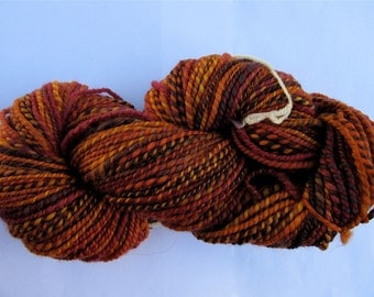 Autumn Superwash Merino Handspun Yarn Free U.S. Shipping