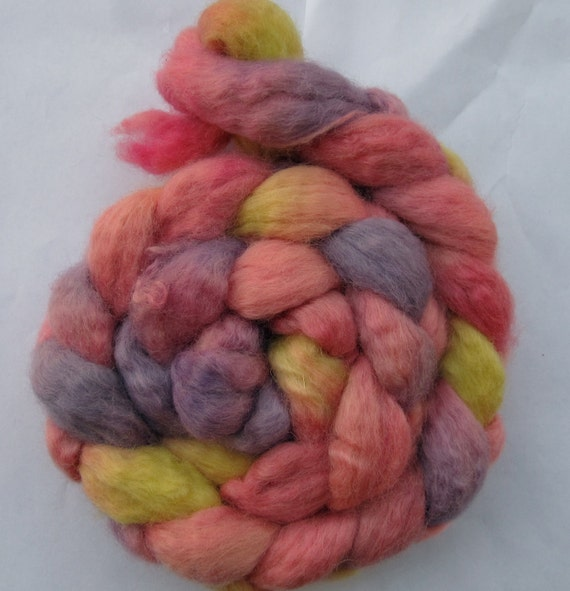 Miss Piggy BFL Spinning Top (roving) 3.8 oz Free U.S. Shipping