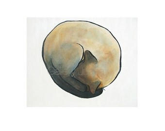 enso siamese cat, 6x6, giclee print