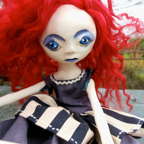 Art Doll With Red Hair Prudence