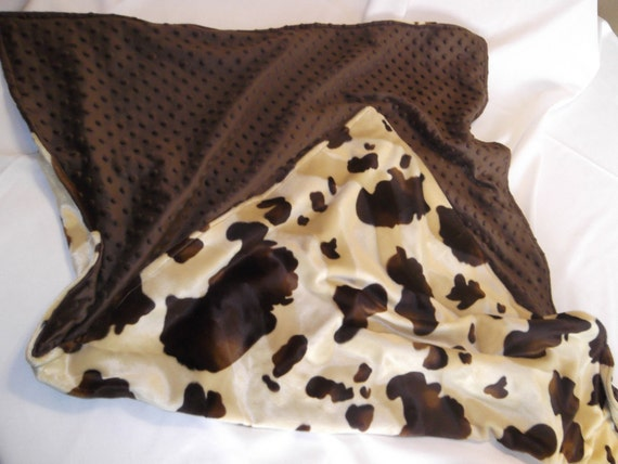 Items Similar To Western Baby Blanket Cow Print And Brown