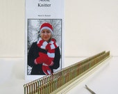 Knitting Board, loom, Noble Knitter 100 knitting board with hook, instructions, and patterns with 100 pegs per side