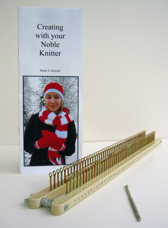 Noble Knitter 50 knitting board with hook, instructions, and patterns