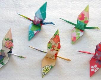 Origami Crane 100 Small Colorful Floral Origami Paper  Crane