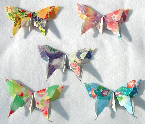 Origami Butterflies 50 Large Floral Origami Paper  3D Butterflies