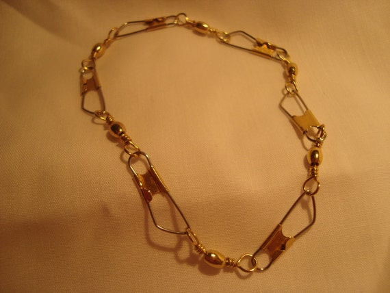 Items similar to men 39 s gold silver barrel swivel fishing for Mens fishing bracelet