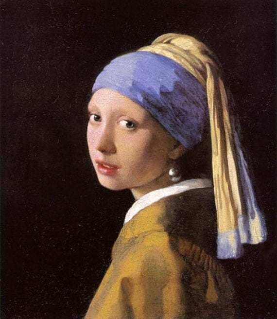 Girl With a Pearl Earring Print---FAMOUS Painting by Vermeer