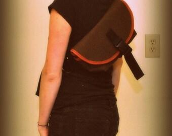 Cordura Waterproof MINI messenger bag / hip pouch / fanny pack FIREFLY by SIREN bags