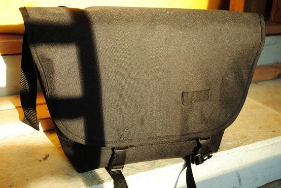 Waterproof Black Bike Messenger Bag Custom Cordura SM
