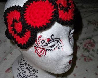 Bow Headband Crocheted