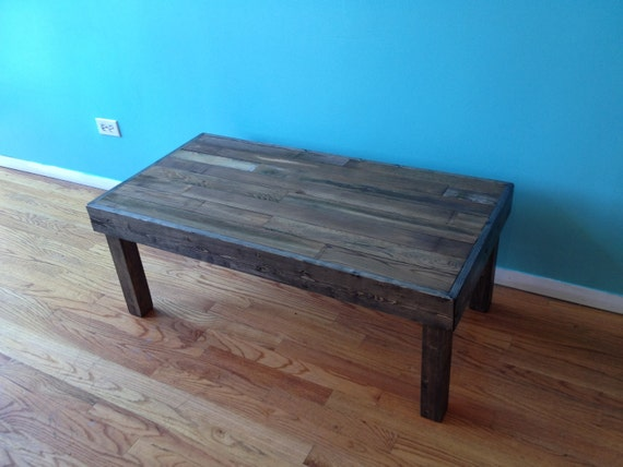 coffee table built with reclaimed wood