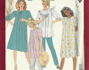 Vintage 1987 McCalls 2954 Maternity Dress & Tunic  with Capris and Pants Size 8