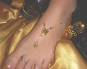 "Swarovski Crystal Gold  Butterfly ""Toe Gem"""