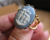 Three Graces Cameo Style Costume Ring