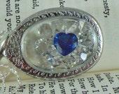 swarovski crystal heart shadowbox locket necklace