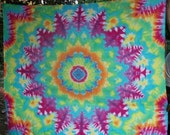 Huge Rainbow Kaledioscope Manadla Tie Dye Wall Tapestry & FREE SHIPPING