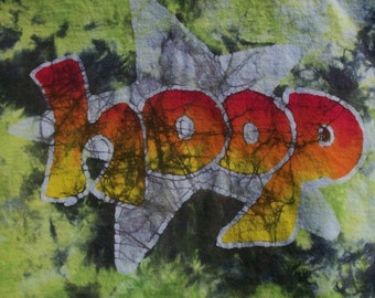 Hoop Star Hoop Dancing Batik & Tie Dye Medium Shirt #083