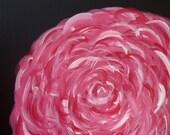 Pink Peony - 12x12 Original Abstract Painting