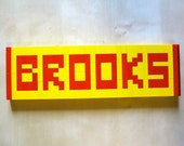 Lego Nameplate-Made To Order-Any Name-Any Color Blocks