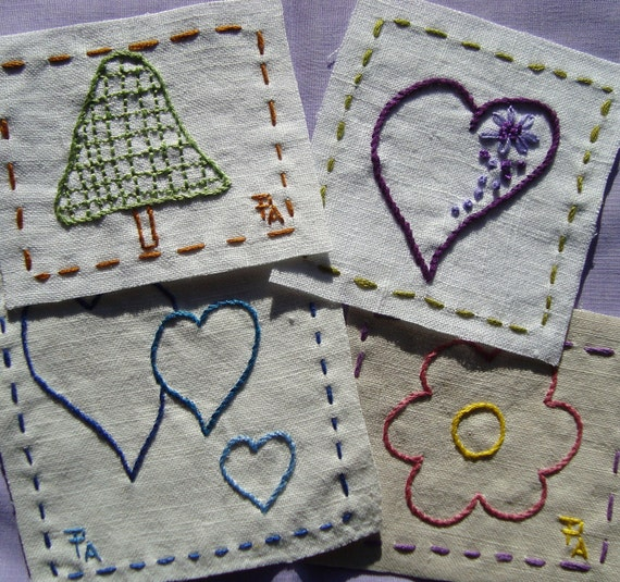 Little patches n Hearts Hand Embroidery Pattern by PDF