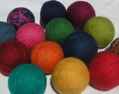 Wool Dryer Balls - Choose Your Colors - Set of 4 Size Large
