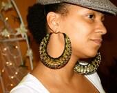 Crochet Hoop Earrings - Custom Colors