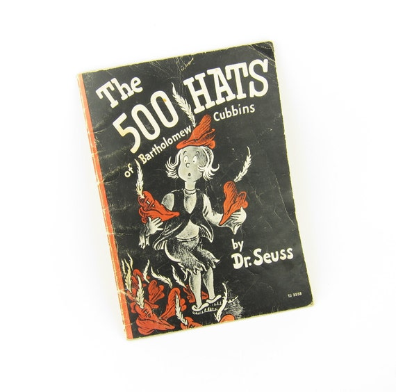 Dr. Suess Book The 500 Hats of Bartholomew Cubbins Vintage 1966 Edition