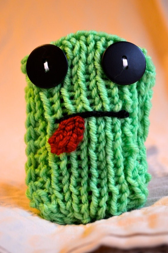 Foster the Frog - Knit Cell Phone Cozy Case