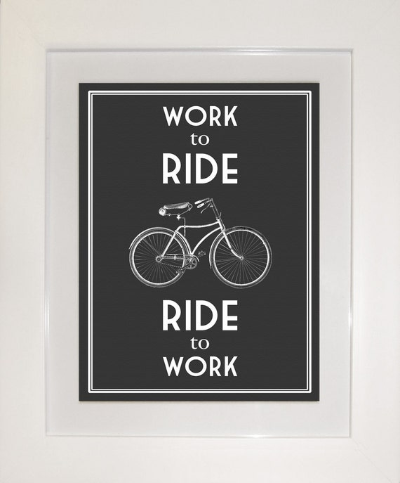 FRAMED & MOUNTED Bicycle Quote Poster
