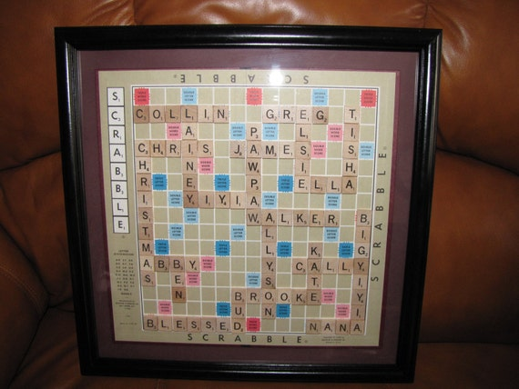 Scrabble Wall Art Framed Picture Birth announcement Christmas – Scrabble Baby Announcement