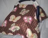 Universal Fit Fleece Butterfly Carseat cover