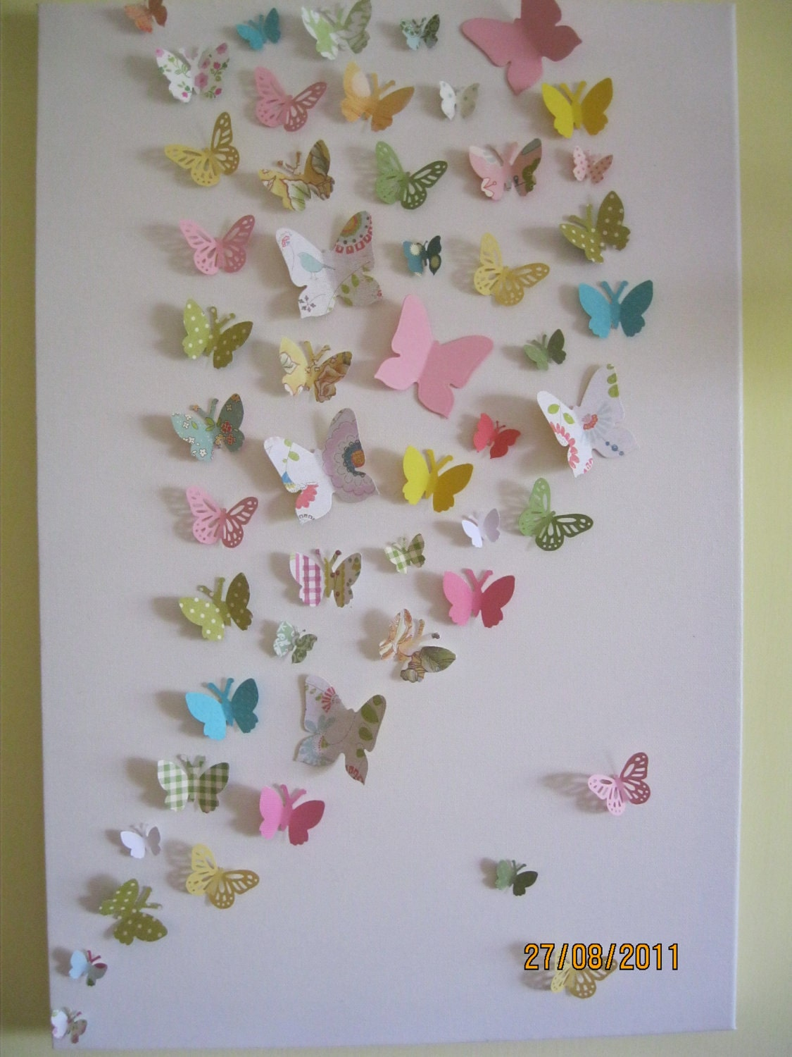 3d butterfly wall art nursery children 39 s teen room for Room decor out of paper