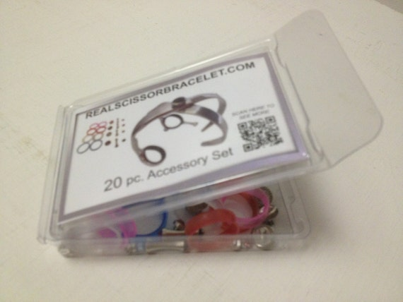 "20 Pc. color Accessory kit for Print Bracelets ONLY  ""Real Scissor"" Bracelet"