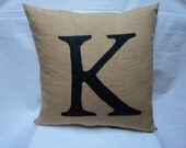 Custom, made to order, hand painted Monogram Pillow Cover