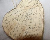 Wedding Rustic French Country Script Love Letters Heart Adornment