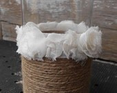 Wedding Centerpiece Rustic Shabby Chic French Country Vase