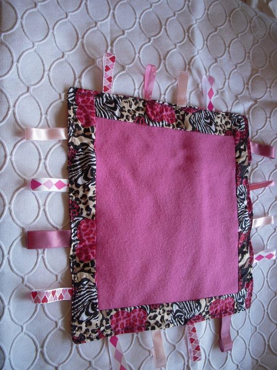 Baby Girl Tag Blanket