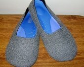 Custom Slippers Men's Tweedy Gray Driving Shoes Yoga Slippers 9 10 11 12