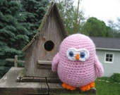 Ollie the pink owl