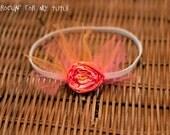 Pink and Orange Headband