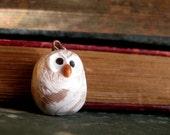 Polymer Clay Owl Pendant/Charm