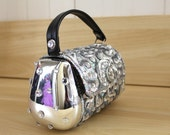 Crystal Studded Stainless Steel Purse