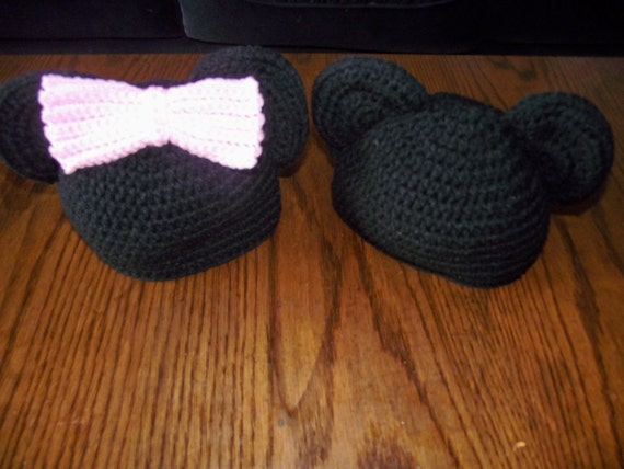 Minnie or Mickey Mouse Hat