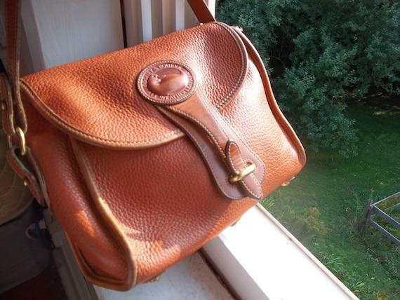 RESERVED FOR LOVELIGHTSTUDIO Dooney & Bourke All Weather Leather Vintage Handbag in Tan