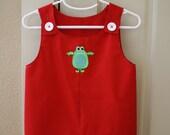 Custom Order for jlh0513d1 - Appliqued Baby Overalls
