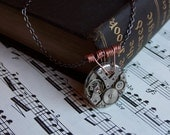 RESERVED Steampunk Necklace, Vintage Watch Parts: Second Chance