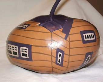 "Gourd art - Muskoka House, ""The Gourdons of Gourdonville"""