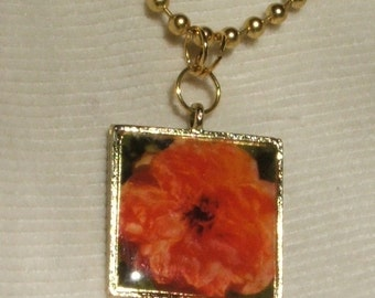Rose Picture Necklace Garden Gems