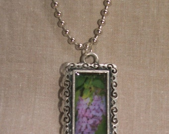 Lilac Photo Necklace Garden Gems