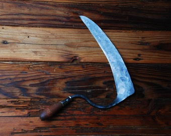 Hand Forged Sickle, Made to order, Blacksmith Made, Hand Scythe
